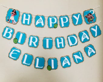 Banner Baby Moana Birthday Banner Party Banner