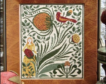 SALE!! Strawberry Blonde Cross Stitch Sampler Chart by Carriage House Samplings