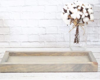 Rustic Wooden Tray- Wooden Tray- Rustic Key Holder- Rustic Remote Control Holder- Rustic Living Room Decor- Wooden Tray- Farmhouse Tray