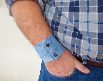 "Mens Wrist Money Cuff- ""Secret Stash"" - hide your cash, key, health info,  in an inside zipper. Great for travel."
