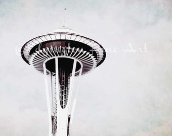 Seattle Space Needle Seattle photography Space Needle Photo Seattle Print Space Needle print Seattle photo Seattle wall art Seattle picture