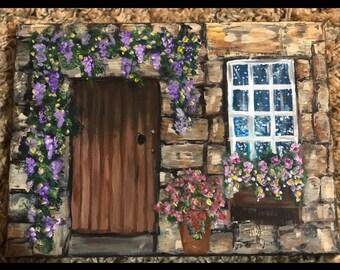 Rustic Stone Doorway Painting