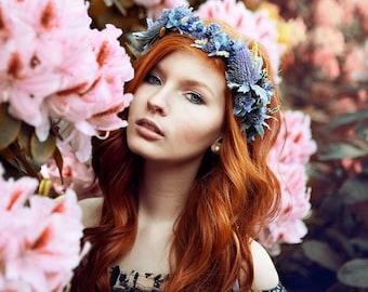 Flowercrown Blue Purple