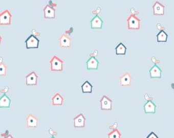 Frolic- Bird House- Dear stella Cotton Fabric