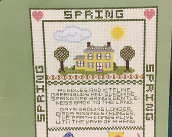 For all seasons, designs by Gloria and Pat, vintage cross stitch leaflet