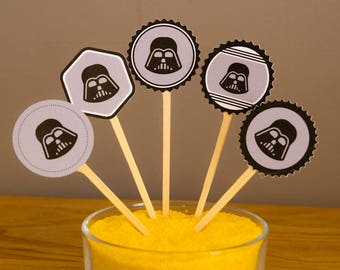 Lot 5 Toppers - Star Wars - Darth Vader Theme
