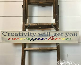 Kids Art Display- Creativity will get you everywhere.