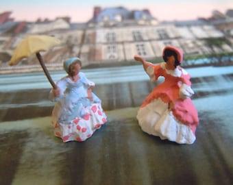 Tiny Regency era Ladies