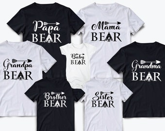 Mama bear shirt, Family shirts, Matching family shirts, Family matching outfits, Papa bear, Family matching shirts, Pregnancy announcement