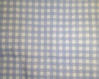 Blue Gingham Fabric