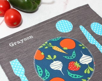 Montessori Kids Placemat,Pretend Play, Place Mats,Montessori Practical Life, Pretend Kitchen,Place Setting,Montessori Materials,Table Mats