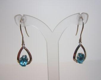 Dark Blue Paraiba Color Apatite Earrings