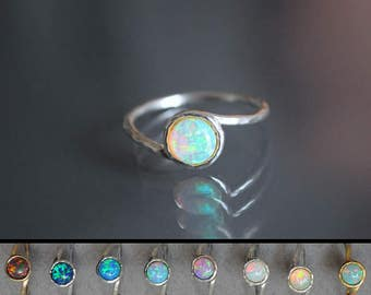 Opal ring. Opal Fire Ring. mothers day gift. October birthstone. Promise ring opal. White Opal Ring. Gold opal ring. mothers ring