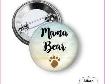 Mama Bear Pinback Button