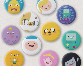 "Adventure Time Inspired 1.25"" Buttons"
