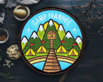 "Scout Camp Patch | Sew On | Embroidered | Patches for Jackets | 2.75"" (Free Shipping US)"