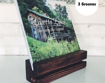 Now Playing Record Stand (3 Grooves)
