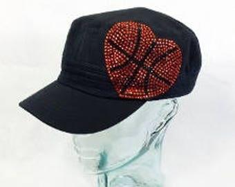 Basketball heart cadet hat
