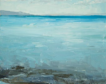Bear Lake Blue-  print on cavas  8x10