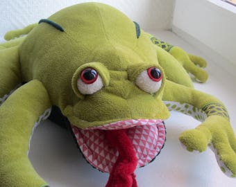 Stuffed toy frog