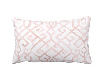 Pillow Cover Decorative Throw Pillows for Bedroom Blush Pink Pillows  Blush Lumbar Pillows Blush Pillow Sham Blush Pillowcase Blush Decor