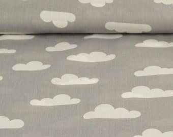 Printed Poplin / cloud grey / cut 25cm