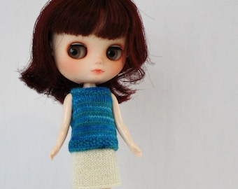 Middie Blythe doll sleeveless sweater knitting PATTERN - tank top Middie doll sweater - instant download - permission to sell finished items