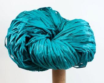 Teal Paper Raffia - Paper Ribbon: 260 yards (240m) - Fiber Arts, Knit, DIY, Gift Wrapping, Weave, etc. - Handwash