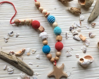 STYLISH nursing necklace  Breastfeeding necklace for mom to wear