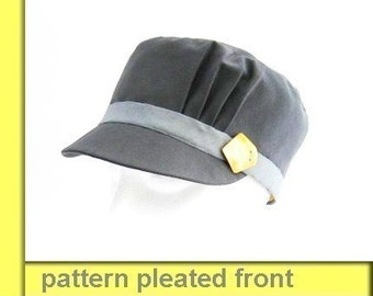 Cap pleated detail hat SEWING PATTERN medium size sewing pattern with pleated side wall