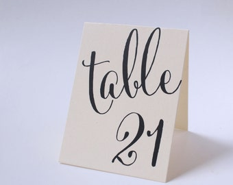 Wedding Table Number Signs, Double Sided Number Cards, Tented Table Number Signs, Wedding Table Decor