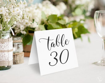 Wedding Table Numbers 1–40 , Tented Table Numbers, Printable Wedding Table Numbers, INSTANT DOWNLOAD, 5x5 Folded, TN04