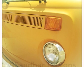 4 x 4 photo card-Sunflower VW bus