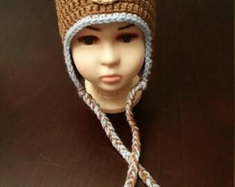 Crochet Puppy Blue Child Hat