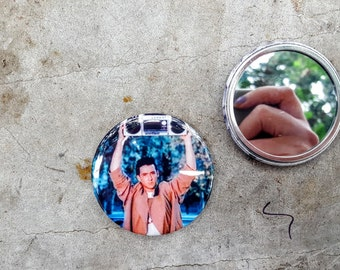 Lloyd Dobler Say Anything 80s Movie 2.25 inch 58MM purse pocket hand button mirror