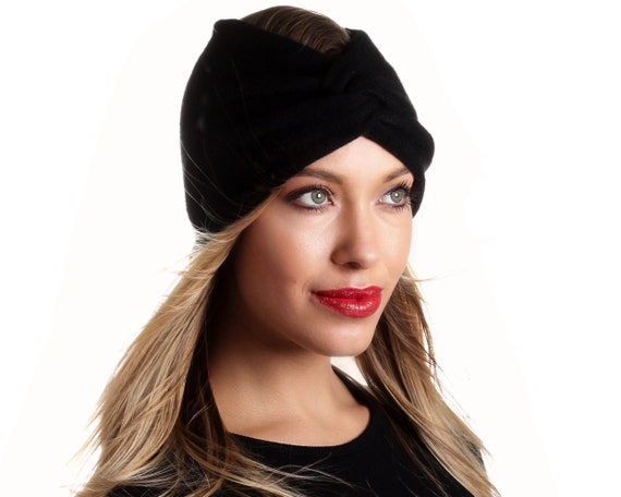 Black Cashmere Headband