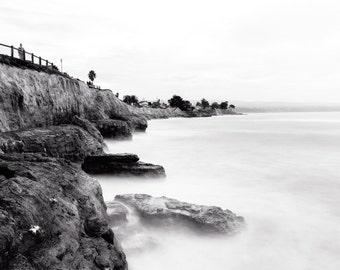 """Surf Photography, Landscape Photography, Wave Photography, Santa Cruz Photography, Ocean Photography, Surf Art, - """"Pleasure Point Mist"""""""