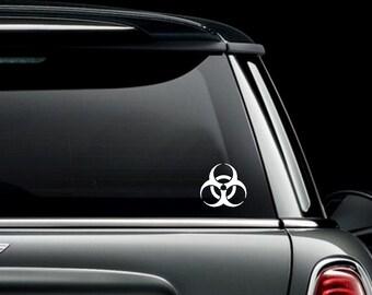 Bio Hazard Symbol Car Truck Van Window or Bumper Sticker Vinyl Decal