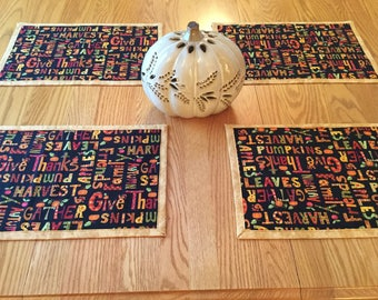 Thanksgiving Harvest Autumn Placemats
