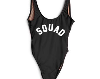 Squad Bathing suit, swim suit, one piece- black-