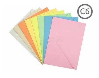 C6 Recycled Envelope Vintage 10Pk