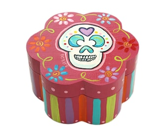 Day of the Dead  Sugar Skull Box (4 Inch)