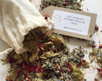 Peaceful Sleep Herbal Dream Pillow - Lavender, Rose, Hops, Mugwort