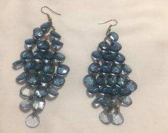 Blue Cascade Earrings