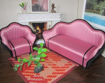 Beautiful Designer Quality BARBIE set of 2. Sofa + Armchair. The best gift for your Doll !