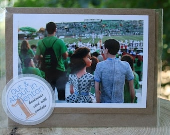 UNT Eagles Football Game note card