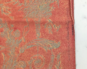 Signed 1 yard piece of Fortuny fabric