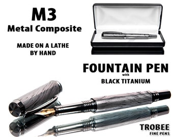 Handcrafted Metal Fountain Pen  - Professionally Handmade M3 Composite  Instrument Best Pen Shop for a Gift for a ManHigh End Writing