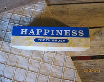 Vintage Naughty Novelty Gag Gift Happiness Toothbrush Golden's Costa Mesa California- Original Box - Breasts Risque Toothbrush