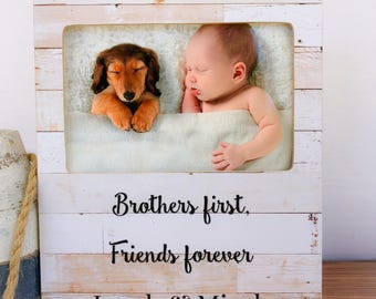 Personalized Brothers Picture Frame Gift Because I Have a Brother I'll Always have a Friend Quote Frame Personalized Gift for Siblings Frame
